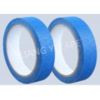 China Blue Heat Resistance Paper Masking Tape For Masking Surface During Painting for sale