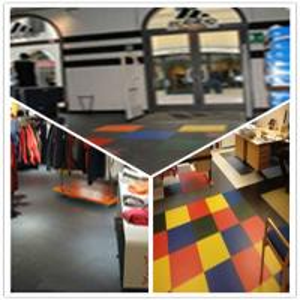 Quality 3W Plastic Vinyl PVC Anti-slip Interlocking Shoping flooring Mats for sale