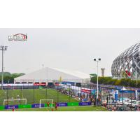 Quality 3m-60m width aluminum and PVC white clear span tent used for outside sport events for sale