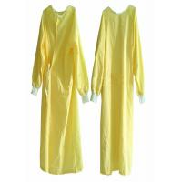 Quality EO Sterile Non Woven Disposable Patient Gowns Minimum Cross Infection Yellow for sale