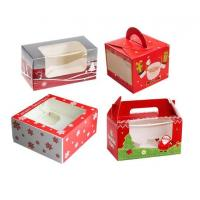 Quality Personalised Christmas Packaging Boxes With Clear Window Environmental Friendly for sale
