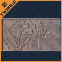 Buy cheap Lotus flower painting / wall relief sculpture / stone relief from wholesalers