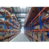 Quality High Height Vertical Pallet Storage Racks , Selective Industrial Metal Shelving Timber Furniture Pipe Tubes Stock for sale