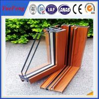 Quality Popular wooden grain aluminium extrusion profile for sliding window & door for sale