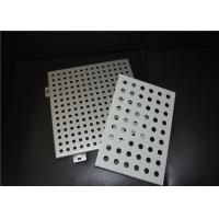 Quality 2.5 - 50mm Opening Width Aluminum Perforated Panel For Curtain Wall / Decorative Wall for sale
