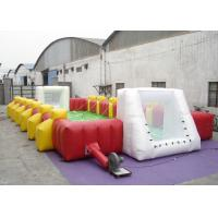 Quality Commercial Large Inflatable Football Games Enviroment - Friendly PVC inflatable football field game for adult for sale