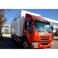 Quality White Or Red 4x2 Small Refrigerated Trucks With Stainless Steel Cargo Material for sale
