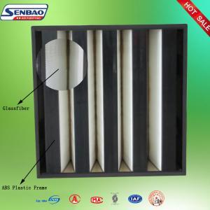 China Mini Pleat Fiberglass Media Clean Air Filter For Home , F7 F8 F9 Efficiency on sale