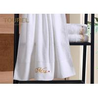 Quality 100 Cotton Embroidery Hotel Towel Set / Jacquard Luxury Hotel Bath Towels for sale