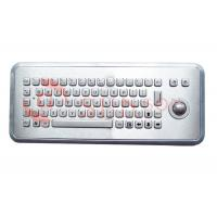 Quality Information Kiosks Stainless Steel Keyboard With Trackball Custom Made for sale