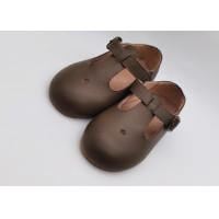 China Toddler Dress Shoes Leather Shoes For Child T-Strap Boys Girls School Shoes on sale