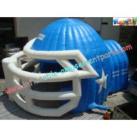 Quality Sports Customized Inflatable Party Tent , Inflatable Helmet Football Tunnel for sale