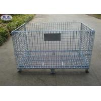 Buy cheap Steel Wire Mesh Pallet Cages , Galvanized Stackable Pallet Cages ISO Approved from wholesalers