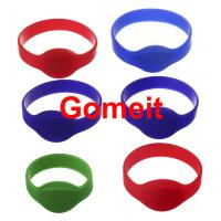 Quality 13.56 Mhz Rfid Silicone Wristband Waterproof , Programmable Smart Access Control Wristbands for sale