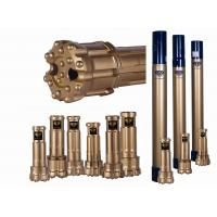 Quality DTH Reverse Circulation Hammer And Bits 17-35 Bar Air Pressure Gold Color for sale