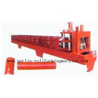 Quality Color Steel Roof Ridge Cap Roll Forming Machine For Theatre / Garden Roofing for sale