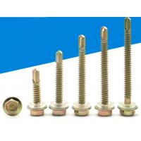 Brass Wrench Or Socket Hexagon Drive Self Sealing Roofing Screws That Go Through Metal for sale