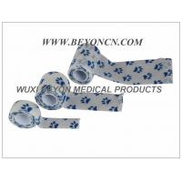 Quality Printed Cohesive Elastic Bandage Paw Prints Vet Wrap  Fix Dressing Cold Hot Packs for sale