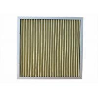 Quality 400 Degree Mini Pleated Air Filters Yellow Color High Dirty Capacity for sale