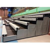 Buy cheap High Density Polyethylene Retractable Bleacher Seating Tailored To Spectator from wholesalers