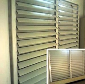 Quality Blind / Shutter Industrial Aluminum Profile , Louver / Jalousie Extrusion Profiles for sale