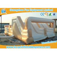 Quality White Double Trouble Inflatable Obstacle Course For Adults Rental Outdoor Extreme Sport Games for sale