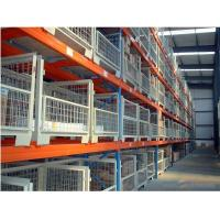 Quality Powder Coating 3-5 Levels Heavy Duty Racking With Steel Plate Decking for sale