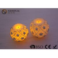 Quality Eco Friendly Round Led Candles , Holiday Led Candles Star Shape for sale