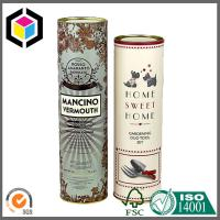 Quality Paper Core Tube with Metal Cap; Matte Color Printing Luxury Paper Tube for sale