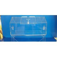 Quality Rotating Acrylic Lottery Drum Lucite Game Display Box Eco-Friendly for sale
