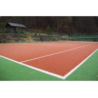 Buy Fibrillated Yarn Type Tennis Court Artificial Grass 10mm Synthetic UV Resistant at wholesale prices