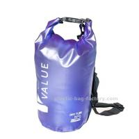 Water-Resistant 10L Blue PVC  Dry Tube Bag , Travel Dry Backpacks with Adjustable Shoulder Strap
