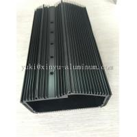 Quality Semi Bright Black Anodized Aluminium Box Aluminum Structural Framing With Tapping And CNC Drilling for sale