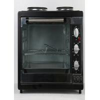 China Aluminum Rotisserie Electric Oven Mechanical Timer Control With Two Hot Plate on sale
