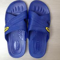 Quality Good quality PVC foamed black color cleanroom ESD slippers(sandals) for sale
