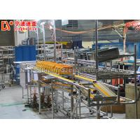 Heat Resistant Assembly Line Conveyor , Roller Track System With Top Light