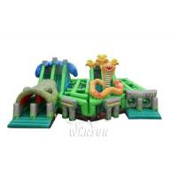 Buy cheap The Lost Jungle inflatable obstacle course WSP-295/Theme combination of forest from wholesalers
