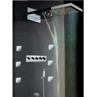 High - End Color Changing Ceiling Mounted Rain Shower Head With Body Jet ,