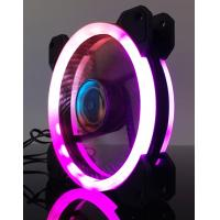 Buy cheap 12V 120mm RGB LED computer fan PC case fan with controller from wholesalers