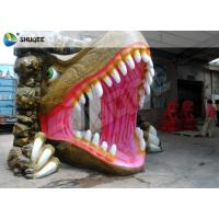 Quality Dinosaur House 5D Movie Theater With Outside Cabin Box , Luxury Electric 9 Seats System for sale
