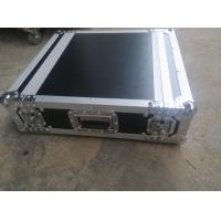China Black Color 2 U Rack case , 2 U Flight Case With 9 MM Thickness Plywood Road Case on sale
