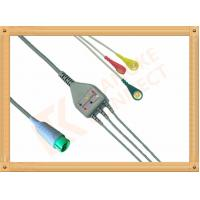 China Fukuda Denshi ECG Patient Cable 3 Leads Snap IEC Insulated for sale