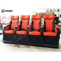 Quality Electric System 4D Movie Theater 120 Red Color Seats For Shopping Center for sale
