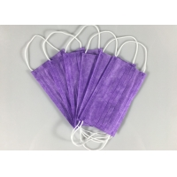 Quality Nonwoven Purple Civil Triple Layer Earloop Face Mask for sale