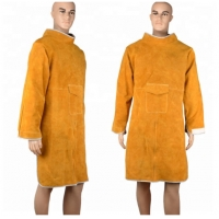 Buy cheap Durable Cow Leather Welding Clothes Long Coat Apron Protection Clothes PPE from wholesalers