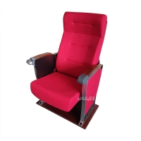 Quality Cinema Seating Furniture Movie Theater Auditorium Chair With Writing Pad for sale