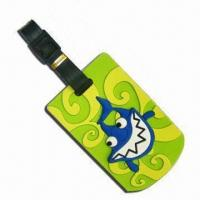 Quality Luggage Tag, Made of Silicone or Soft PVC, Customized Logos, Designs, Sizes, Colors Welcomed for sale