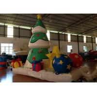 Quality Xmas Inflatable Christmas Decorations Trees Christmas Yard Blow Ups 4 X 2.8 X 4.5m for sale