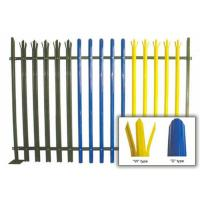 Buy Durable W Section Green Palisade Fencing , Single Point Road Security Fence at wholesale prices