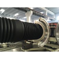 PVC Double Wall Corrugated Pipe Production Line / Extruder High Speed